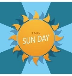 modern international day sun vector image