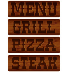nameplate of wood vector image