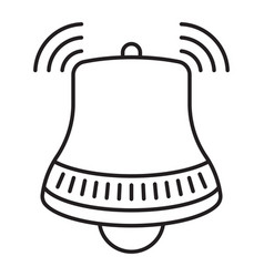 Notification ringing bell line art icon for apps vector