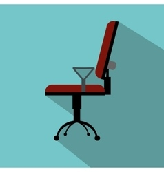 Office chair flat icon vector image