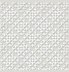 paper cut out ornamental trendy pattern vector image