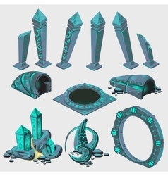 Part of portal elements from sci-Fi series vector