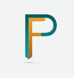 Pf logo vector