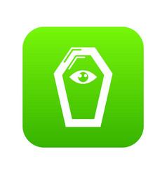 pharaoh coffin icon green vector image