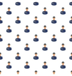 Policeman pattern cartoon style vector image