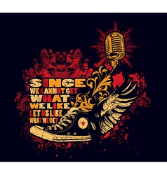 Punk shoes and microphone vector