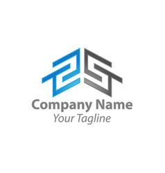 Real state logo design with latter s premium vector
