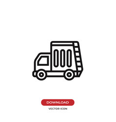 recycling truck icon vector image