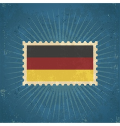 Retro German Flag Postage Stamp vector