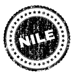 Scratched textured nile stamp seal vector