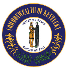 Seal of kentucky vector