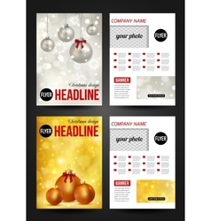 set christmas corporate business stationery vector image