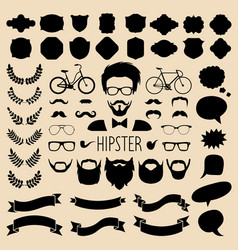 set of dress up with different men hipster vector image