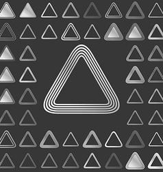 Silver line triangle icon design set vector