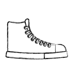 Sketch draw boot cartoon vector