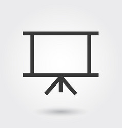 slide business presentation flat icon modern vector image