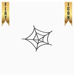 Spiderweb icon web symbol vector