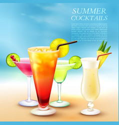 Summer cocktail party background vector