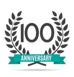 Template Logo 10 Years Anniversary vector image