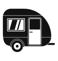 Travel trailer icon simple style vector