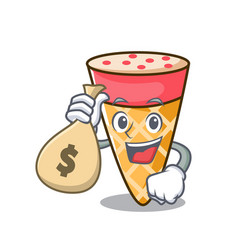 With money bag ice cream tone character cartoon vector