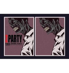 Zombie party invitation vector image
