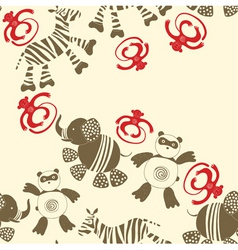 zoo animals pattern vector image