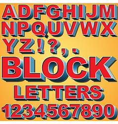 3D Block Letters vector image vector image