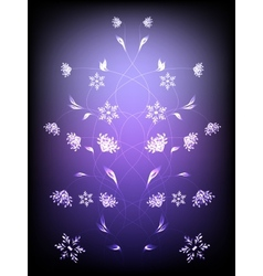 Abstract background with pattern of flowers EPS10 vector image vector image