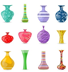 collection of lovely modern colorful vases for vector image vector image