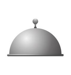 dish dome restaurant vector image