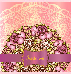 invitation card template vector image vector image