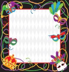mardi gras party invitation vector image vector image
