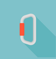 carabiner hiking equipment icon vector image
