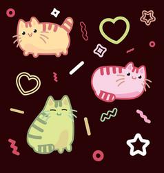 cat kawaii style kitten kitty pet on vector image vector image