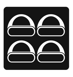 different sushi icon simple style vector image