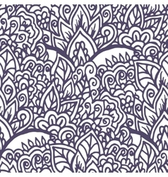 Doodle floral hand drawn ornament Seamless vector image