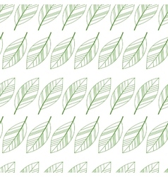 leaves seamless isolated vector image vector image