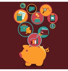 Personal Finance Control and management vector image vector image