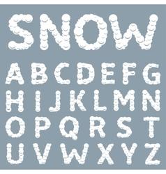 White Snowy alphabet vector image
