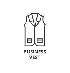 business vest line icon outline sign linear vector image vector image