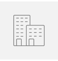 Factory line icon vector image