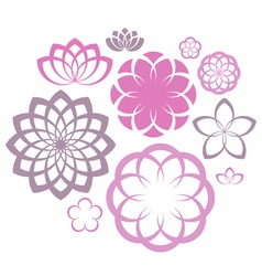 Flower Icon Set vector image vector image