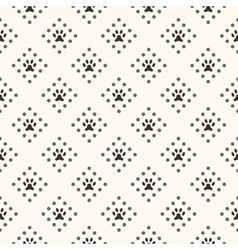Seamless animal pattern of paw footprint and dot vector image
