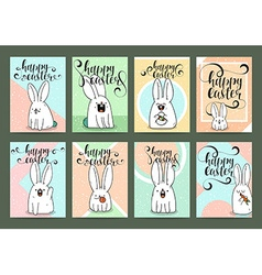 Set of ready designs for print Easter greeting vector image vector image