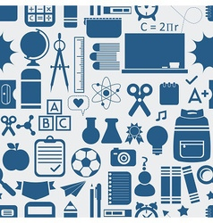 silhouette school and stationery icons set pattern vector image