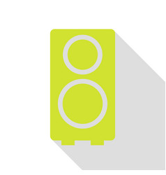 speaker sign pear icon with flat vector image vector image