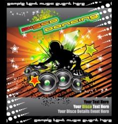 disk jockey music background vector image