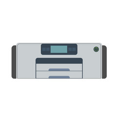 printer icon machine print office isolated paper vector image vector image
