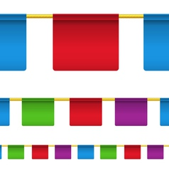 Rectangular flag banners vector image vector image